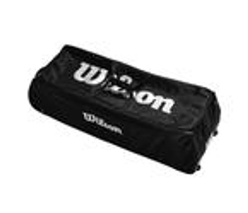 Football Rolling Bag - Holds 12, Black/White