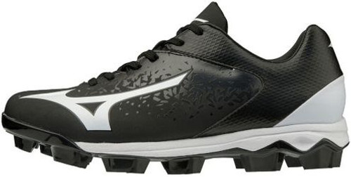 Wave Select Nine TPU Men's Low Baseball Cleat Black/White