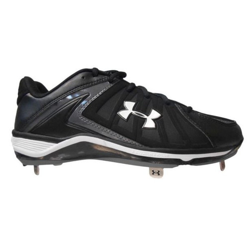 Under Armour Ignite Low ST Baseball Cleat - Men's Metal - Black