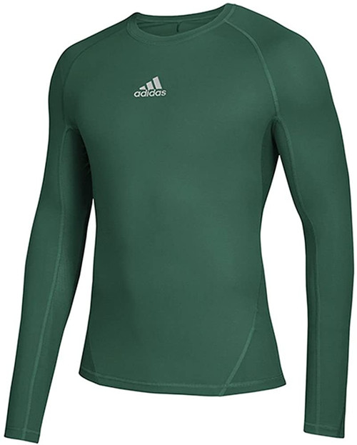 MEN'S LONGSLEEVE T-SHIRT THERMO SOCCER ADIDAS ALPHASKIN-DARK GREEN