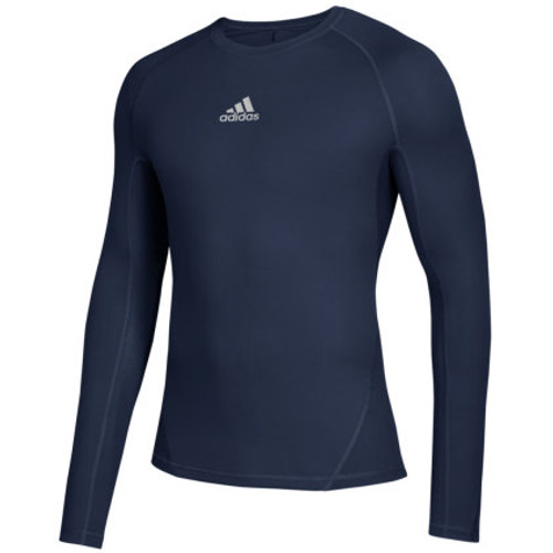 MEN'S LONGSLEEVE T-SHIRT THERMO SOCCER ADIDAS ALPHASKIN-NAVY