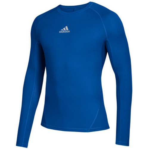 MEN'S LONGSLEEVE T-SHIRT THERMO SOCCER ADIDAS ALPHASKIN-ROYAL