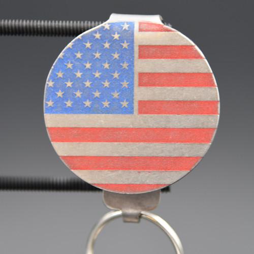 American Flag Pocket Clip Keychain
