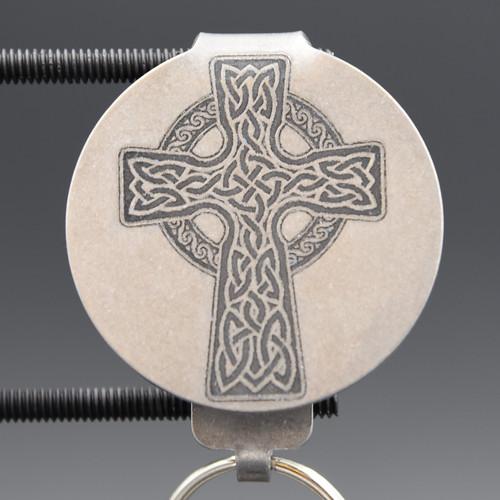 Celtic Cross Pocket Clip Keychain
