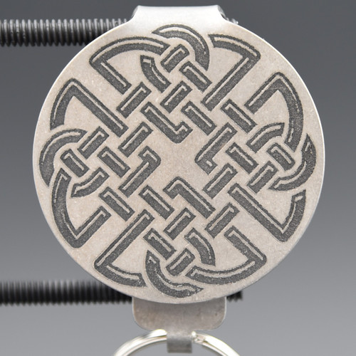 Celtic Knot Pocket Clip Keychain