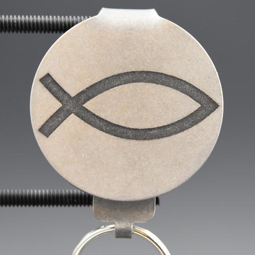 Christian Fish Pocket Clip Keychain