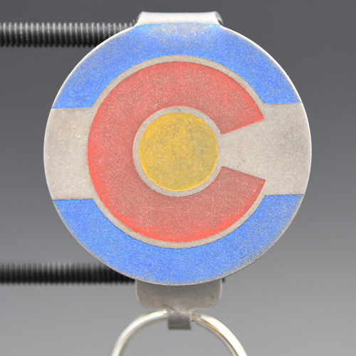 Colorado Flag Pocket Clip Keychain