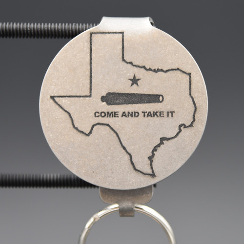 Texas Come & Take It Pocket Clip Keychain