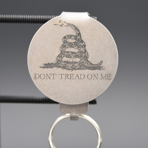 Don't Tread on Me Pocket Clip Keychain