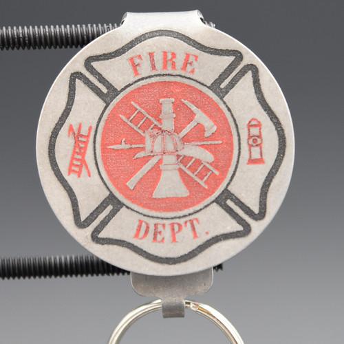 Fire Department Pocket Clip Keychain