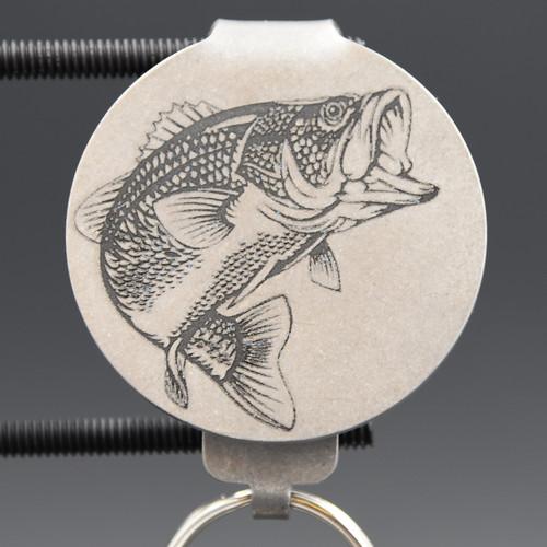 Bass Fish Pocket Clip Keychain