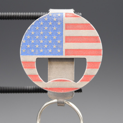 American Flag Bottle Opener Pocket Clip Keychain