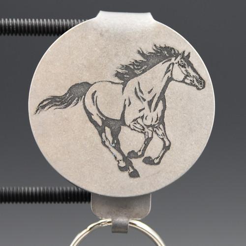 Horse Pocket Clip Keychain