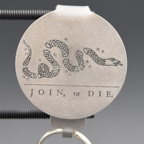 Join or Die Pocket Clip Keychain