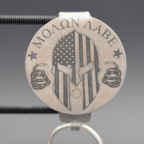Molon Labe Pocket Clip Keychain