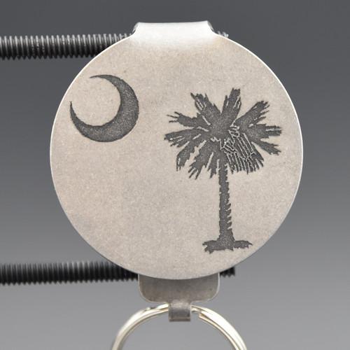 South Carolina Flag Pocket Clip Keychain