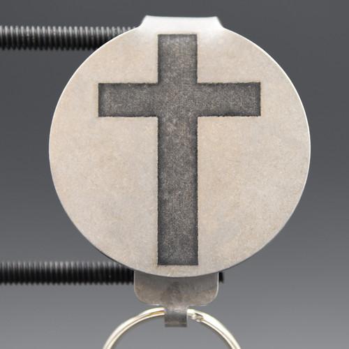 Standard Cross Pocket Clip Keychain
