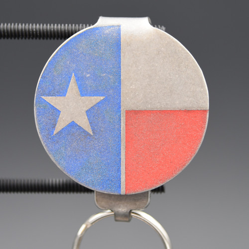 Texas Flag Pocket Clip Keychain