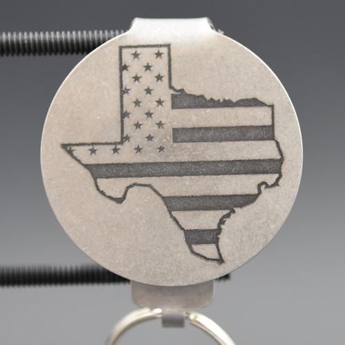 American Flag Texas Border Pocket Clip Keychain