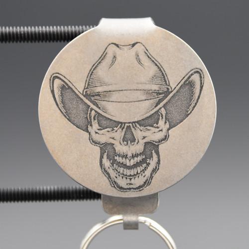 Cowboy Skull Pocket Clip Keychain