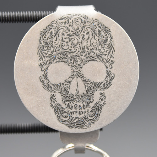 Tribal Skull Pocket Clip Keychain