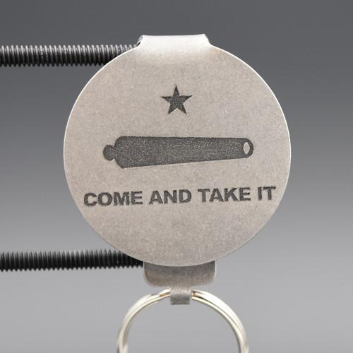 Come & Take It Pocket Clip Keychain