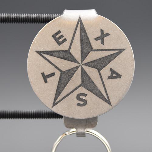Republic of Texas Pocket Clip Keychain