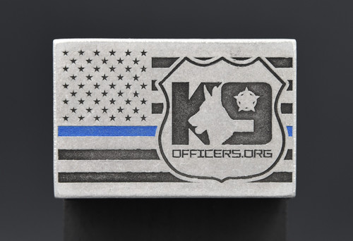 K9 Officers.org Blue Line Patch