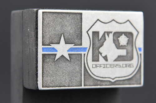 K9 Officers.org Texas Flag Blue Line Patch