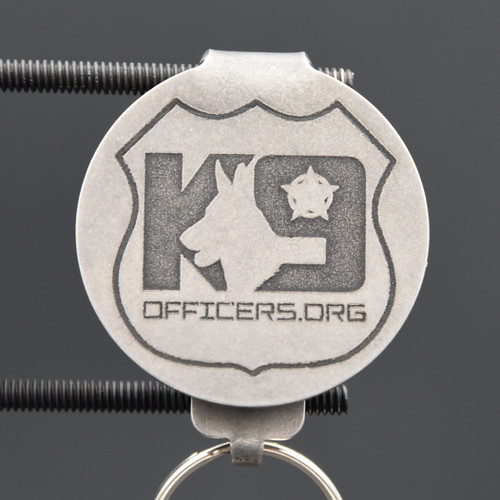K9 Officers.org Pocket Clip Keychain
