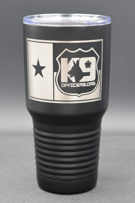 K9 Officers.org 30oz Black Tumbler