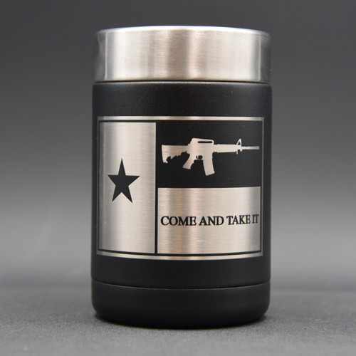 Texas Flag Come & Take It Koozie