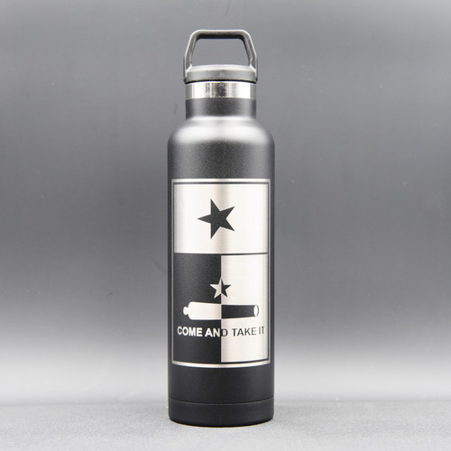 Come & Take It Texas Flag RTIC 20oz Water Bottle