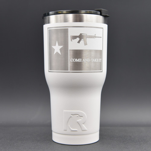 Texas Flag Come & Take It RTIC  30oz  Tumbler