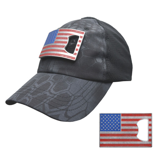 Typhon Mesh Tactical Hat with American Flag Bottle Opener Patch