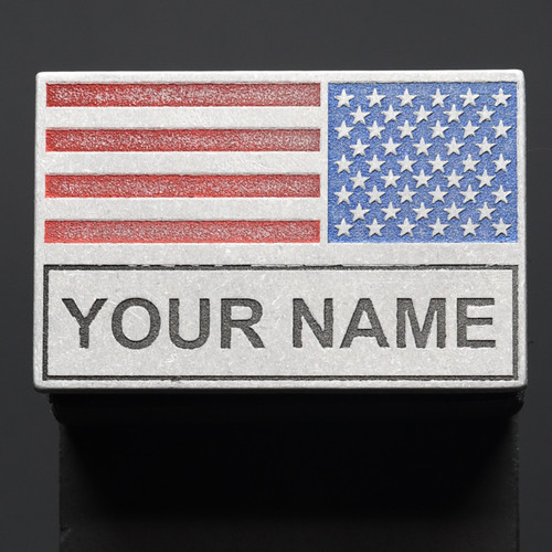 American Battle Flag with Name Patch