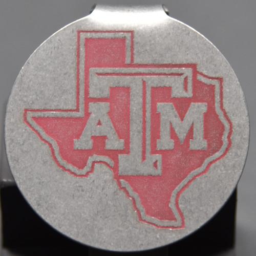 Texas A&M Texas Badge Pocket Clip Keychain