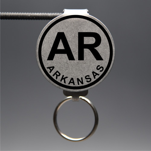 Arkansas- AR Keychain
