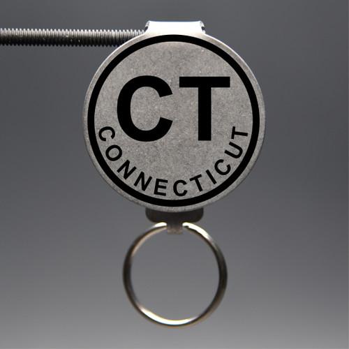 Connecticut- CT Keychain
