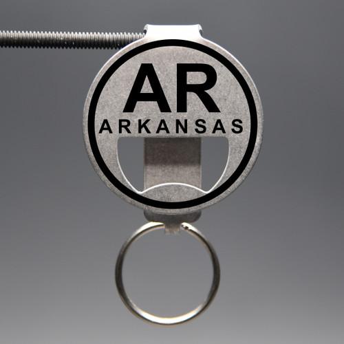 Arkansas- AR Bottle Opener Keychain