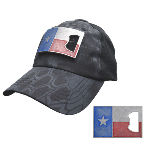 Typhon Mesh Tactical Hat with Texas Flag Bottle Opener Patch