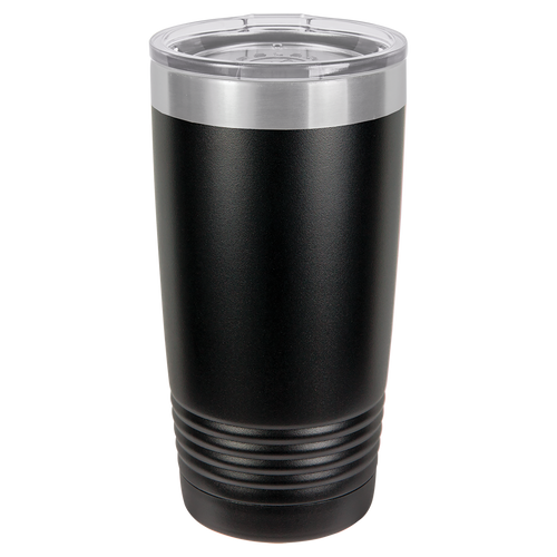 Black with Stainless Ring  20oz Ring Neck Tumbler