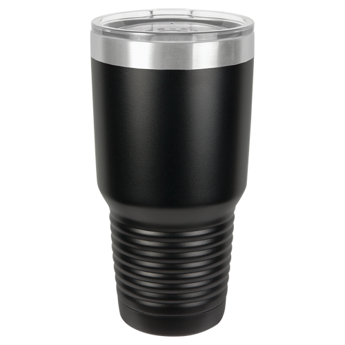 Black with Stainless Ring 30oz Ring Neck Tumbler