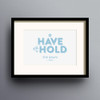 To Have And To Hold Print 'Blue' colour option by Dig The Earth