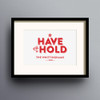 To Have And To Hold Print 'Red' colour option by Dig The Earth