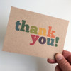 Thank You - Set Of 12 Colourful Note Cards by Dig The Earth