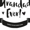The Most Amazingly Awesome Grandad Personalised Print in Black (Detail) by Dig The Earth