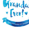 The Most Amazingly Awesome Grandad Personalised Print in Sapphire (Detail) by Dig The Earth