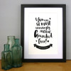 The Most Amazingly Awesome Grandad Personalised Print in Black by Dig The Earth