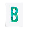 Watercolour Alphabet Initial Letter Print (Letter B in Rock) by Dig The Earth